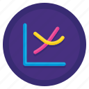 chart, graph, lines, scatter, smooth icon