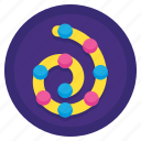 helix, picture, spiral, swirl icon
