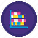 bar, chart, graph, stacked icon