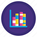 chart, column, graph, stacked icon
