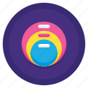 diagram, stacked, venn, venn diagram icon