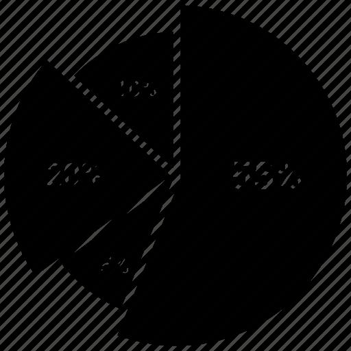 analytics, business, chart, graph, infographic, pie chart icon