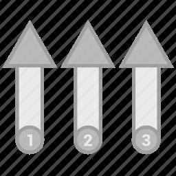 bars, data signal, service, signal, up icon