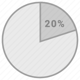 info, infromation, percent, twenty icon