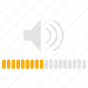 audio, control, infographics, music, sound, volume, volume control icon
