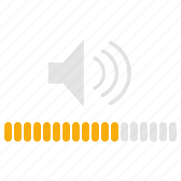 audio, media, music, sound, volume, volume control icon