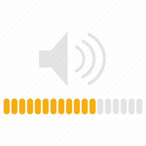 audio, media, music, sound, volume, volume control icon