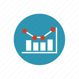 arrow, business, chart, diagram, finance, infographic, statistics icon