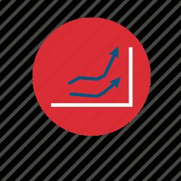 arrow, arrows, business, chart, diagram, infographic, statistics icon