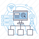 connection, internet, network, server icon