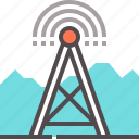 broadcasting, cellular, radio, tower icon