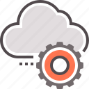 cloud, computing, management, processing icon
