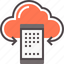 backup, cloud, mobile, server icon