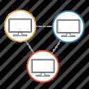 communication, connection, lan, network, peer, wan, wireless icon