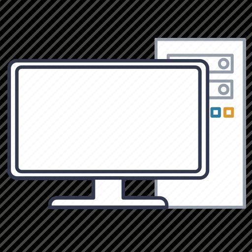 computer, desktop, electronic computer, hardware, monitor, pc icon