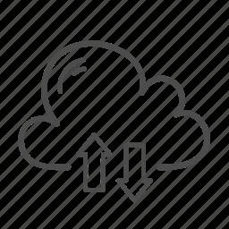 cloud, computing, data, network, server, transfer icon