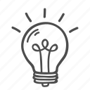 blub, bulb, creative, idea, innovation, lamp, thinking icon