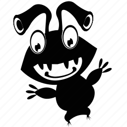 cartoon, ink, monsters icon