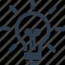 creative idea, creativity, idea, innovation, light bulb icon