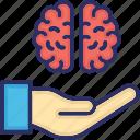 brain care, brainstorming, creativity, intelligence, mental stability icon