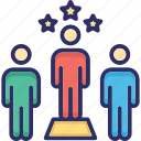 employability, job performance, professional skills, team skills, workforce skills icon