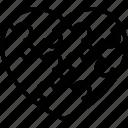 heart puzzle, jigsaw, jigsaw puzzle, problem, puzzle design icon