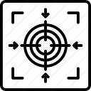 bullseye, crosshair, focus, precision, seo icon