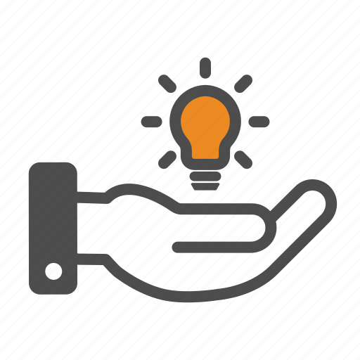 Hand, idea, innovation icon - Download on Iconfinder