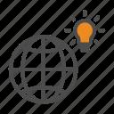 idea, innovation, world icon
