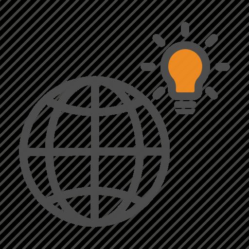 Idea, innovation, world icon - Download on Iconfinder