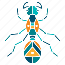 ant, building, creation, insect, labour, nature, work icon