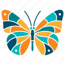 butterfly, colorful, fly, grace, insect, nature, wing icon
