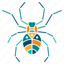 devour, hunting, insect, nature, spider, trap, vermin icon
