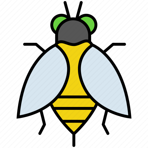bee, fly, honey, honeybee, insect, insects, nature icon