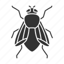 domestica, fly, housefly, insect, musca, parasite, pest icon
