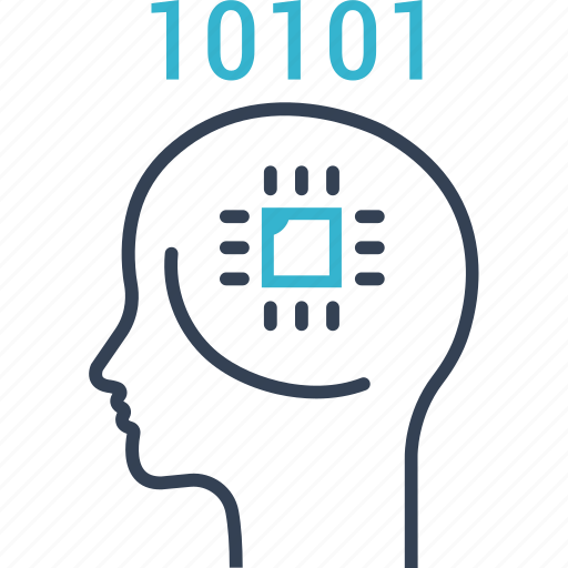 brain, cpu, information, institution icon