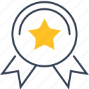 diploma, institution, star, win icon
