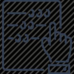 hand, institution, maths icon