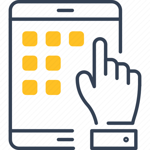 Hand, institution, internet, ipad icon - Download on Iconfinder