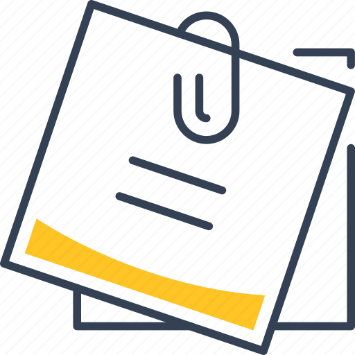 clip, institution, paper, reminder icon