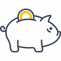 bank, institution, money, piggy icon
