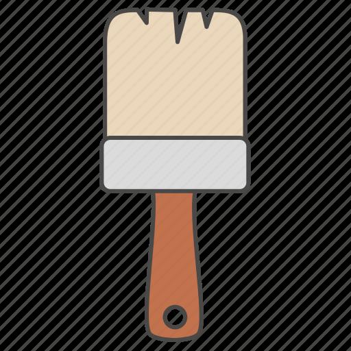 brush, color, equipment, paintbrush, palette, repair tool, tool icon