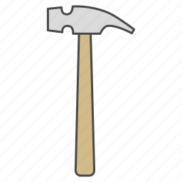 building, claw hammer, construction, hammer, repair, repair tool, tool icon