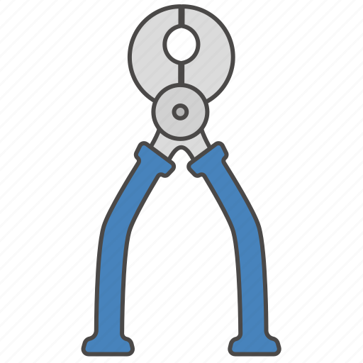 instrument, nippers, pincers, repair, repair tool, tool, wire-cutters icon