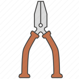 combination pliers, instrument, nose pliers, pliers, repair tool icon, tool icon