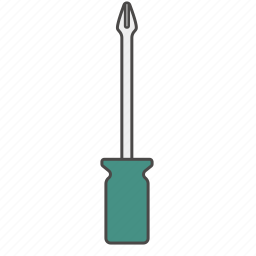crosshead screwdriver, phillips screwdriver, repair tool, screw, screwdriver, slotted screwdriver icon