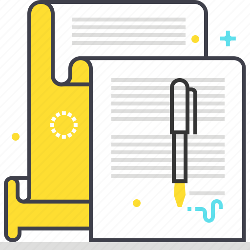 contract, document, insurance, paper, policy, sign icon