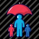 care, cartoon, concept, family, health, insurance, object
