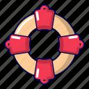 buoy, cartoon, emergency, equipment, life, lifebuoy, object
