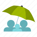 autumn, open, rain, spring, summer, umbrella, wet icon